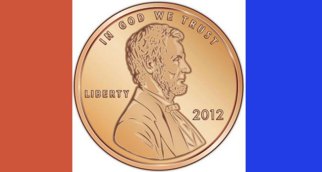 U.S. penny image